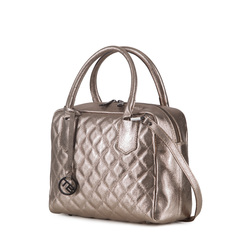 Tosca Blu Essential Quilted leather boston bag