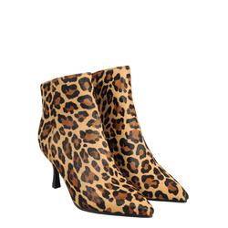 Aristogatti Animalier leather high-heeled ankle boot, beige, 36 EU