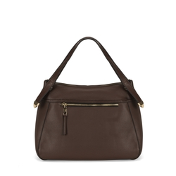 Pollicino Leather tote bag, brown
