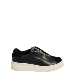 Sir Biss Leather slip-on sneaker with jewel details, black, 40 EU