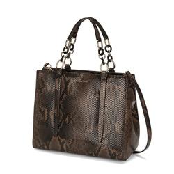 Libro Della Giungla Tote bag with snakeskin print, dark brown