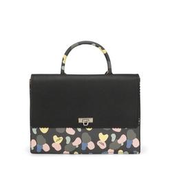 Back To School Satchel bag with print, black