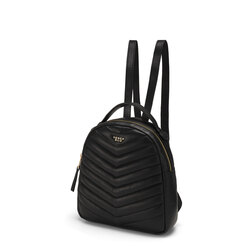 Baghera Quilted leather backpack, black