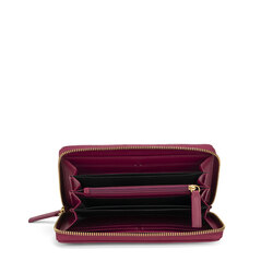 Regina Di Cuori Large quilted leather wallet, plum