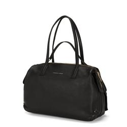 Ribes Tumbled leather tote bag, black
