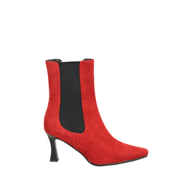 Alice Suede high-heeled ankle boot, red, 40 EU