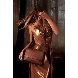 Schiaccianoci Flap crossbody bag, brown