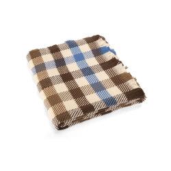 Anemone Checkered scarf, dark brown