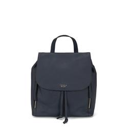 Frutti Di Bosco Genuine leather backpack, blue