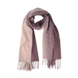 Erica Two-tone checkered scarf with fringes, mauve