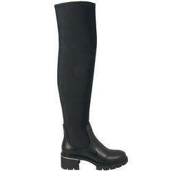 Gnomo Stretch leather high-heeled boot, black, 38 EU