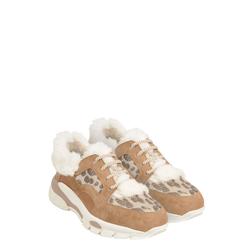 Unicorno Leather, faux fur and fabric sneaker, leather, 36 EU