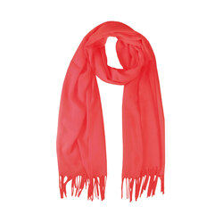 Gelsomino Scarf with fringes, red