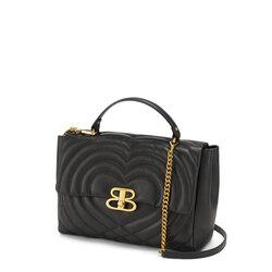 Regina Di Cuori Large quilted leather handbag, black