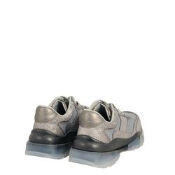 Sirenetta Glitter sneaker with transparent sole, silver, 41 EU