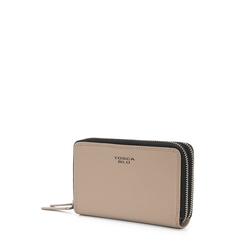 Basic Wallets Medium leather wallet with logo, mud