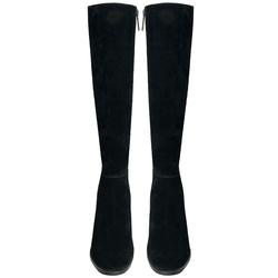 Bosco Leather high-heeled boot, black, 37 EU