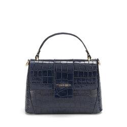 Tic-Tac Leather handbag with crocodile print, blue