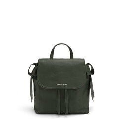 Sottobosco Leather backbag with decorative bows, green