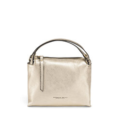 Trilly Tumbled leather handbag, gold