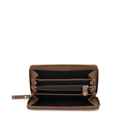 Hansel E Gretel Large tumbled leather wallet with logo, brown