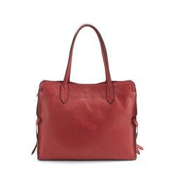 Magia Leather tote bag, dark red