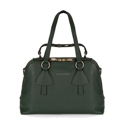 Lampone Tumbled leather boston bag, green