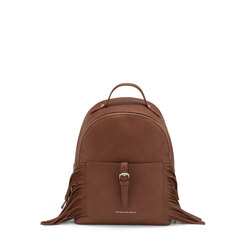 Re Leone Backpack with fringes, leather
