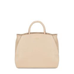 Hansel E Gretel Tumbled leather handbag, powder