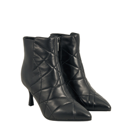 Aristogatti Quilted leather high-heeled ankle boot, black, 36 EU