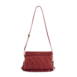 Cappuccetto Rosso Quilted leather crossbody bag, dark red