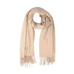 Tulipano Scarf with fringes, natural