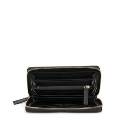 Biancaneve Large wallet with two-tone leather, black/plum