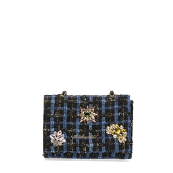 Cambridge Crossbody bag with embroidery and jewel details, multicolour