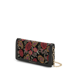 Tris Clutch bag with embroidered panel, multicolour