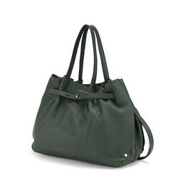 Ribes Tumbled leather tote bag, green