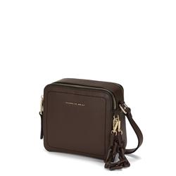Pollicino Small leather crossbody bag, brown