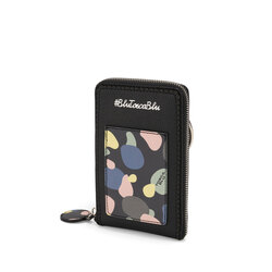 Back To School Mobile phone holder with print and shoulder strap, black