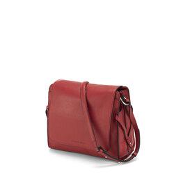 Magia Flap leather crossbody bag, dark red