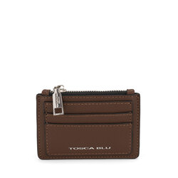Schiaccianoci Card holder, brown