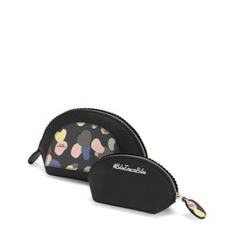 Back To School Make-up bag set with print, black