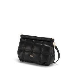 Bella Addormentata quilted soft clutch bag, black