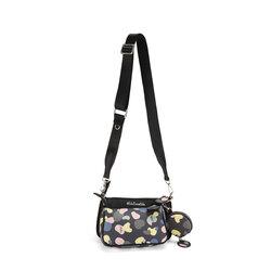 Back To School Crossbody bag with print, black