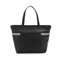 Yale Tote bag with appliqués, black