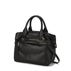 Pollicino Leather boston bag, black