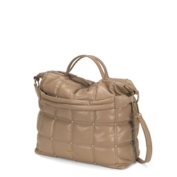 Bella Addormentata quilted soft handbag, taupe
