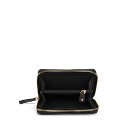 Baghera Small quilted leather wallet, black