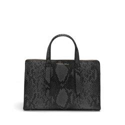 Libro Della Giungla Handbag with snakeskin print, black