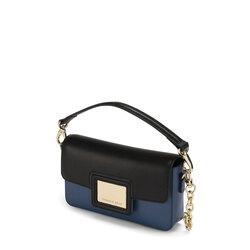 Fata Turchina Small bicolour leather shoulder bag, avio blue