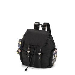 Back To School Multi-material backpack with print, black